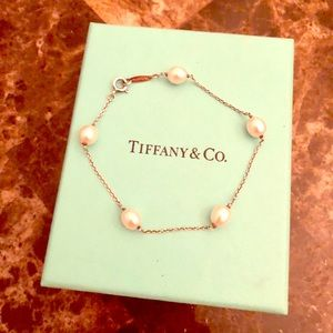 Tiffany Elsa Peretti Pearl Bracelet